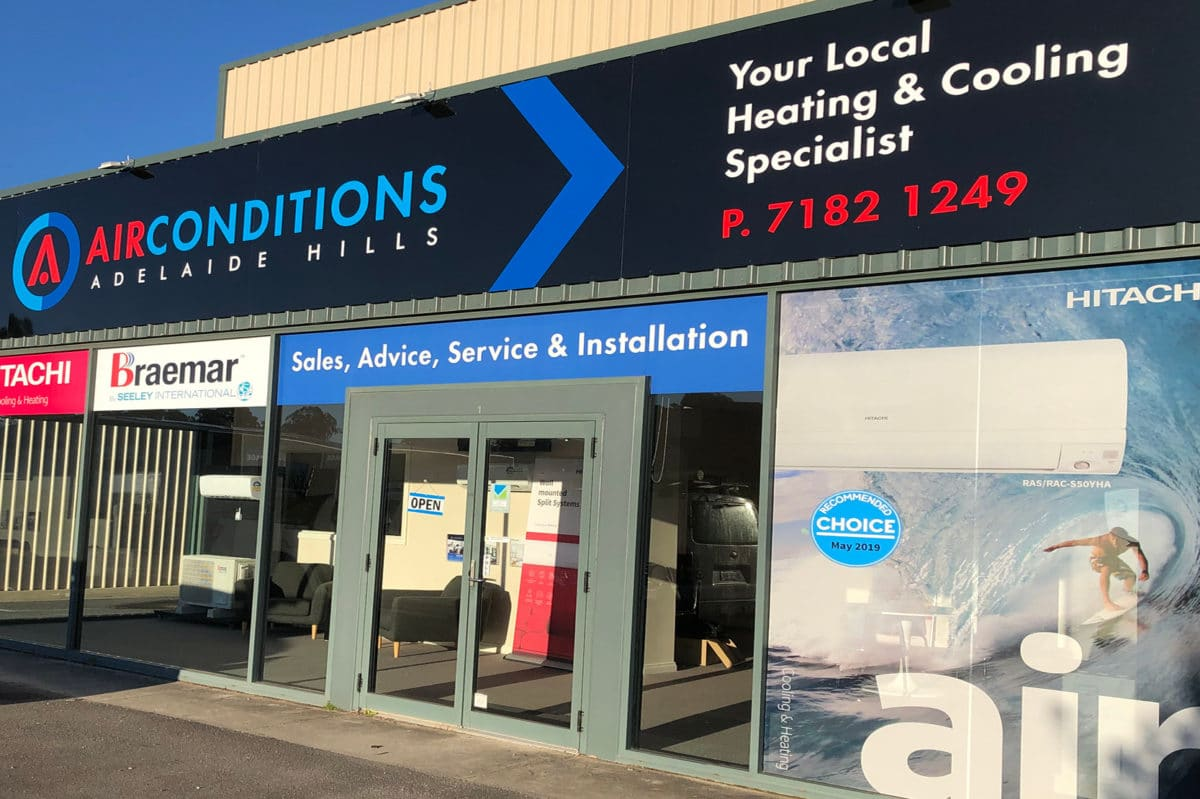 AirConditions - Adelaide Hills showroom